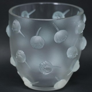 Rene Lalique Clear & frosted Glass 'Pivoines' Vase