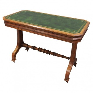 Gothic Style Oak Writing Table / Library Table