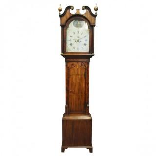 George III Inlaid Mahogany Longcase Clock by Charles Campbell, Boness