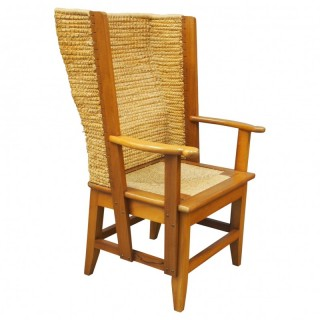 Large Mahogany Frame Orkney Chair