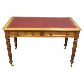 Victorian Satin Birch Library Table
