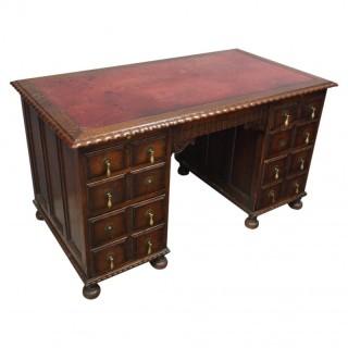 Oak Pedestal Desk by Waring and Gillows, Lancaster