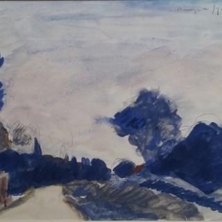 Andre Dunoyer de Segonzac (1884-1974) Landscape watercolour
