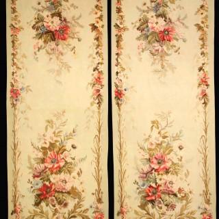 """A pair of Antique French Aubusson Portiere """" Entre-Fenetre"""""""