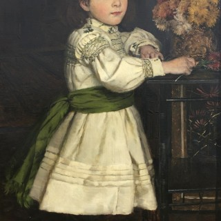 William Hippon Gadsby - Young Girl in an Aesthetic Interior