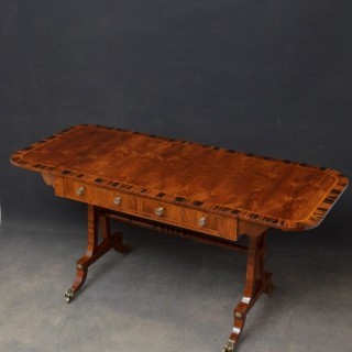 Exquisite Regency Olivewood Sofa Table
