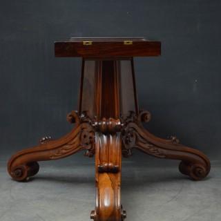 Superb William IV Rosewood Centre Table