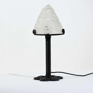 Small Art Deco Table Lamp By Degué