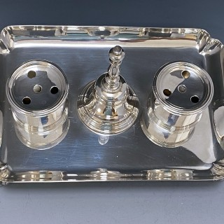 Sterling Silver Inkstand made in 1937  Chapple and Mantell of London