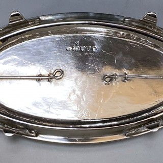Antique Silver George III Inkstand made in 1794  Henry Chawner of London