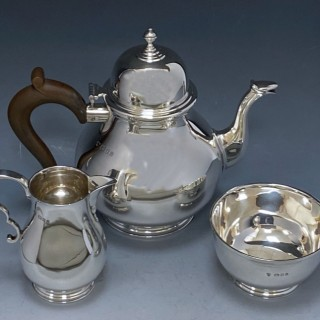 Sterling Silver Tea Service made in 1934   Richard Burbidge of Harrods London