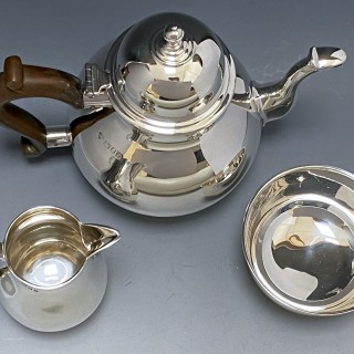 Sterling Silver Tea Service made in 1934   Richard Burbidge of Harrods London