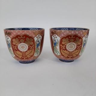 A pair of Japanese Imari bowls
