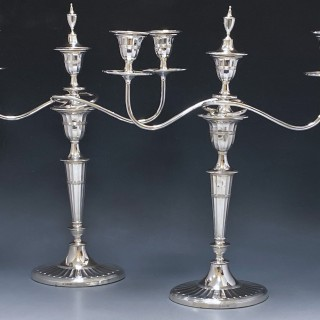 Antique Silver Victorian Candelabra made in 1897  Hawksworth Eyre and Co of Sheffield