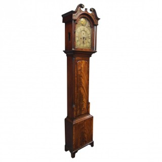 George III Inlaid Mahogany Grandfather Clock by G Brown, Edinburgh