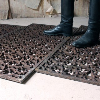 Three Rare & Large Early Victorian Gothic Cast Iron Cathedral Floor Grilles c.1840