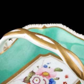 Rockingham China Trinket Basket