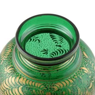 Victorian Bohemian Glass Vase