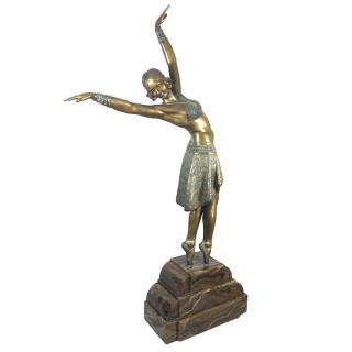 Vedette – large Art Deco bronze figure of a dancer by Demetre Chiparus
