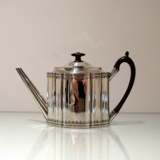 Antique George III Sterling Silver Teapot London 1795 Henry Nutting