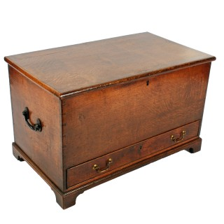 Small Georgian Oak Mule Chest