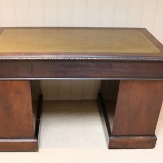Victorian Green Man Carved Pedestal Desk
