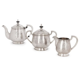 Russian Neoclassical style silver tea service