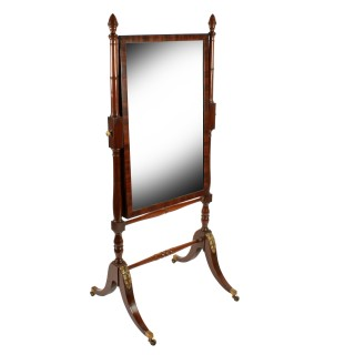 Fine Georgian Mahogany Cheval Mirror