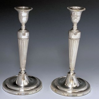 Pair of George III Old Sheffield Plate Candelabra made c 1780