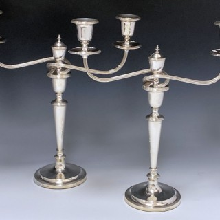 Pair of Sterling Silver Candelabra made in 1964