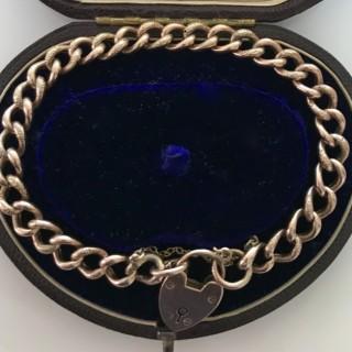 Victorian Gold Curb Bracelet
