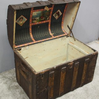 American Dome Top Travel Trunk