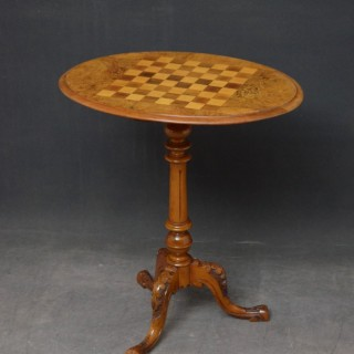 Victorian Walnut Chess Table