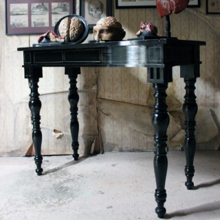 A Victorian Ebonised Side/Centre Table c.1870-80; The Earls of Crawford and Balcarres of Balcarres House