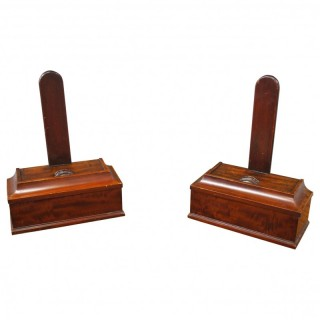 Pair of George IV Mahogany Plate Stands