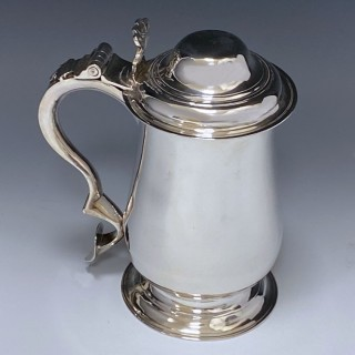 Antique Silver George III Tankard made in 1773 London  by John King