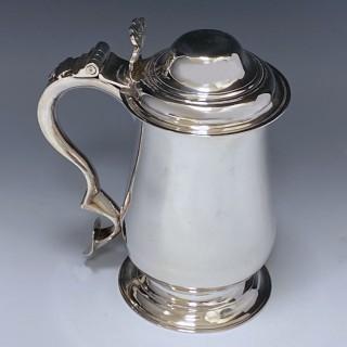 Antique Silver George III Tankard made in 1773 London  by John King