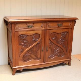 Substantial Oak Art Nouveau Sideboard
