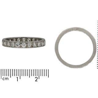 Art Deco diamond full eternity band, French, circa 1925.