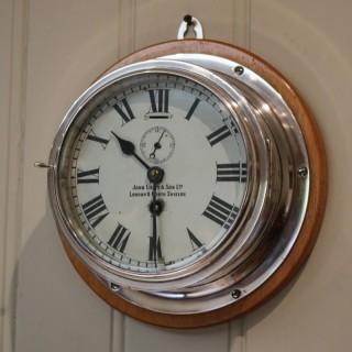 Nickel Plated Ships Bulkhead Clock