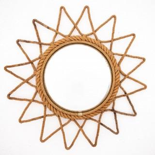 Audoux Minet Attributed Round Starburst Mirror