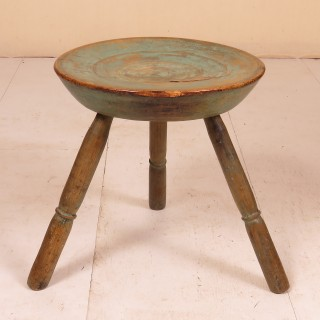 Early 19th Century Dish Topped Turned Stool