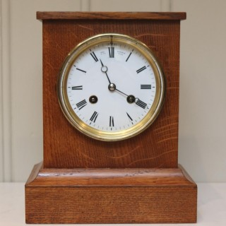 Golden Oak Mantel Clock By Queen Victoria's Clockmaker