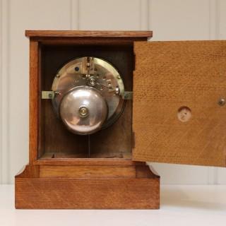 Golden Oak Mantel Clock By Queen Victoria's Clockmaker