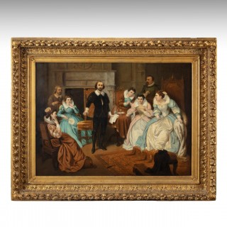 Large 19th Century Scene of William Shakespeare, British School Oil on Canvas