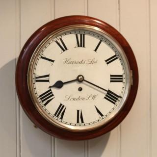 Mahogany Dial Clock By Harrods