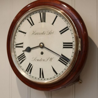 Mahogany Dial Clock By Harrods