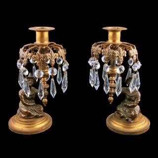 Bronze & Gilt Metal Candlesticks