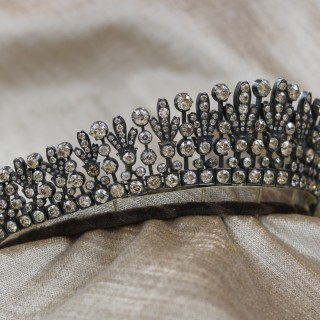 A superb Kokoshnik Diamond Tiara - Necklace, Austro-Hungarian, Late 19th Century