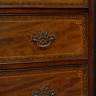 Regency Serpentine Mahogany Chest of Drawers